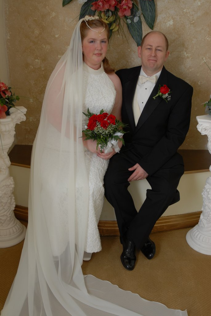 me and hubby on ma wedding day